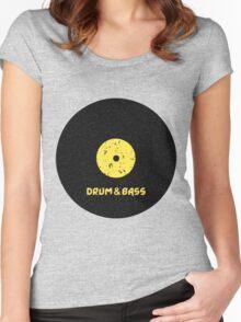 Drum & Bass (Vinyl) Women's Fitted Scoop T-Shirt