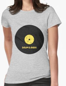Drum & Bass (Vinyl) Womens Fitted T-Shirt