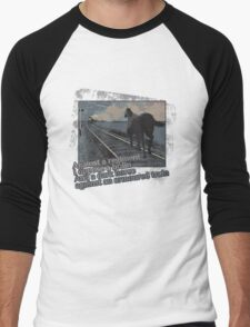 Against a Regiment - Horse and Train Men's Baseball ¾ T-Shirt