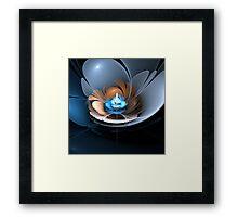 Blue Rose - 3D Bloom Fractal Framed Print