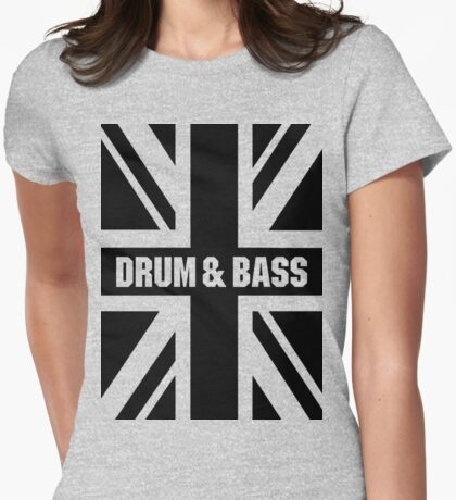 DRUM AND BASS UK Womens Fitted T-Shirt