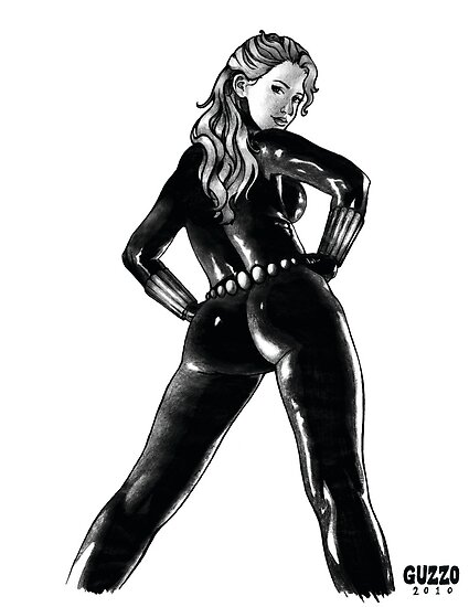 Black Widow in Latex by Laura Guzzo