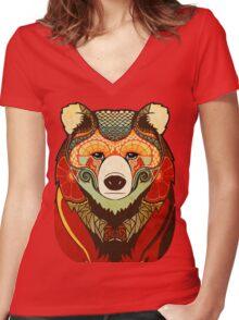 The Bear Women's Fitted V-Neck T-Shirt