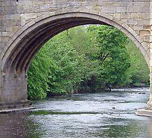 Fishing Near Baslow Bridge  by Rod Johnson