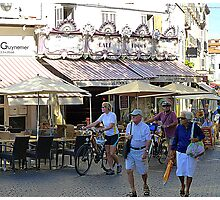 Bicycles And Baguettes In Antibes Photographic Print