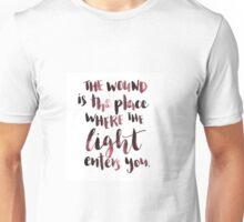 Where the light enters Unisex T-Shirt
