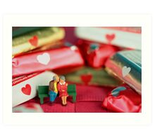 The old lovers memorize Valentine's Day Art Print