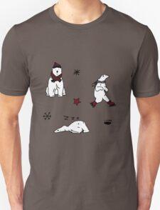 CHRISTMAS POLAR BEAR PATTERN Unisex T-Shirt