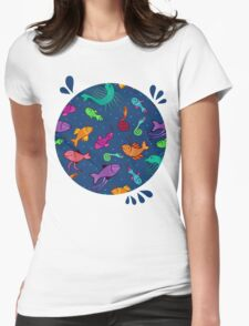 extraordinary sea creatures Womens Fitted T-Shirt