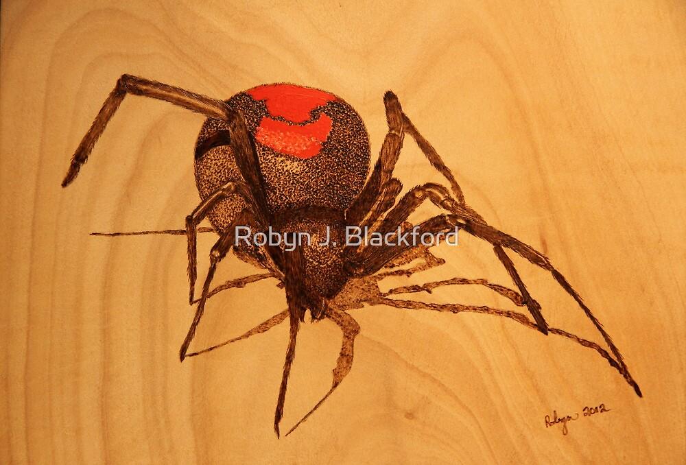 Pyrography: Australian Redback Spider by aussiebushstick