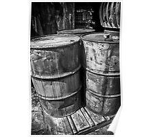 Barrels B/W Poster