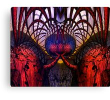 Abstract B . Mirror Test Symmetry Fx  Canvas Print