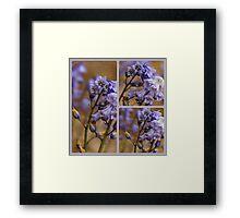 Collage In Blue .... Framed Print