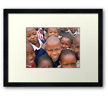 Tanzanian Children Framed Print