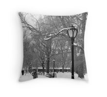 NYC Winter Throw Pillow