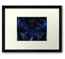 Blue Jade Abstract Fx  Framed Print