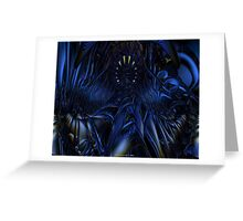 Blue Jade Abstract Fx  Greeting Card