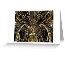 Abstract Horned Owl Fx  Greeting Card