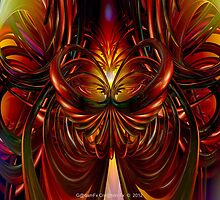 Abstract Fire Heart Fx  by AdamF-X29