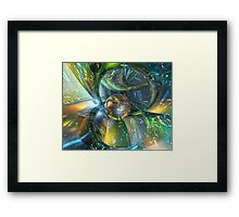 Baby Blue Glass Master Fx  Framed Print