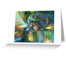 Baby Blue Glass Master Fx  Greeting Card