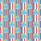 Flower Octopus Striped Pattern by SaradaBoru