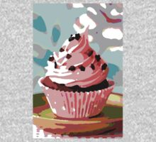 Chocolate Cupcakes with Pink Buttercream One Piece - Long Sleeve