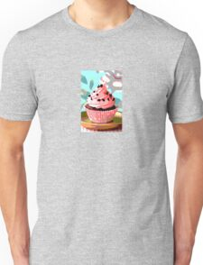 Chocolate Cupcakes with Pink Buttercream Unisex T-Shirt