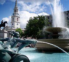 Trafalgar Square by Joey Dunn