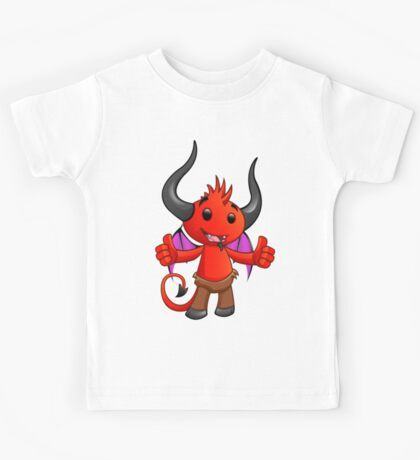 Devil Character - Two Thumbs Up - 1 Kids Tee