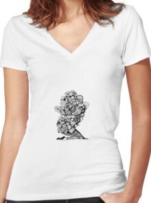 World on my shoulders Women's Fitted V-Neck T-Shirt
