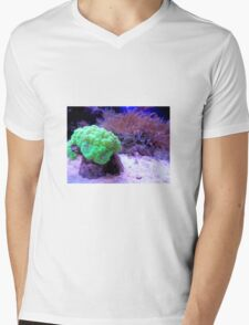 Coral Mens V-Neck T-Shirt