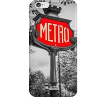 Classic Metro Station Sign iPhone Case/Skin