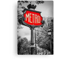 Classic Metro Station Sign Canvas Print