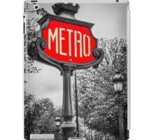 Classic Metro Station Sign iPad Case/Skin