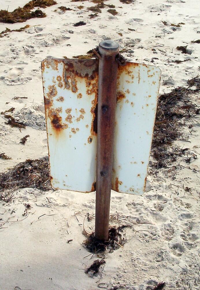 Beach Sign Five by Robert Phillips