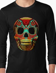 Grunge Skull No.2 Long Sleeve T-Shirt