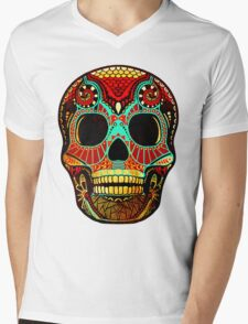 Grunge Skull No.2 Mens V-Neck T-Shirt