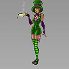 Mad Hatter Pinup by screamingtiki