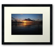 Sunset on the Columbia Framed Print