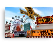Ferris Wheels & Fried Dough - Fryeburg Fair Canvas Print