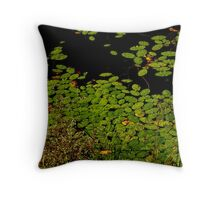 Sprinkles of green Throw Pillow