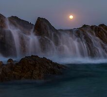 Moon rise in Forster NSW by KeithMcInnes