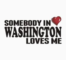 Somebody In Washington Loves Me Kids Tee