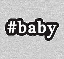 Baby - Hashtag - Black & White One Piece - Short Sleeve
