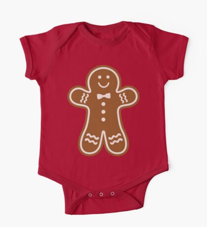 Gingerbread Hugs One Piece - Short Sleeve
