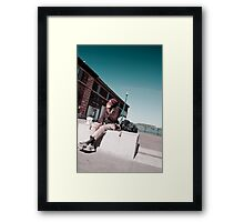 Sidewalks of San Francisco: Wise Old Man Framed Print