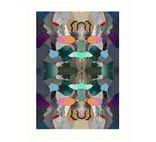 Abstraction Lined Art Print