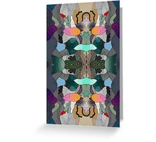 Abstraction Lined Greeting Card