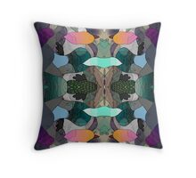 Abstraction Lined Throw Pillow